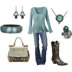 Aqua cowgirl, great for fall!