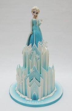 Frozen Elsa castle cake