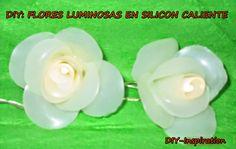 DIY: Flores luminosas en silicon caliente