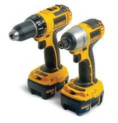 Cordless drills are popular and versatile, but impact drivers can drive screws at astonishing speeds. So what's the difference between a drill/driver and an impact driver? We'll help you decide which is the best for your shop. Cordless Tools, Cordless Drill, Home Tools, Diy Tools, Woodworking Hand Tools List, Woodworking Bench, Dewalt Power Tools, Dewalt Drill, Antique Tools