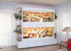 TERRARIUMS ~ Gorgeous! Very functional. This with a removable middle shelf to convert from two homes into one as needed would be my ideal.