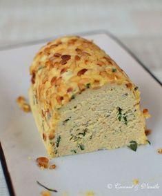 Kartoffelterrine mit Ziegenkäse, Basilikum und Pinienkernen ~ Potato Terrine with Goats Cheese, Basil and Pine nuts