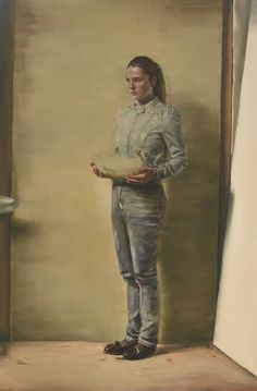 Michael Borremans Girl with Duck 2011 Love Painting, Figure Painting, Michael Borremans, Wilhelm Sasnal, Luc Tuymans, Portraits, Famous Art, Contemporary Paintings, Cool Artwork
