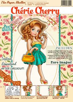 Cherie Cherry - Digital Stamp