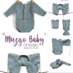 … Baby Romper Pattern, Baby Sweater Patterns, Pants Pattern, Baby Patterns, Baby Coat, Quick Knits, Baby Sweaters, Toddler Outfits, Knitting Projects