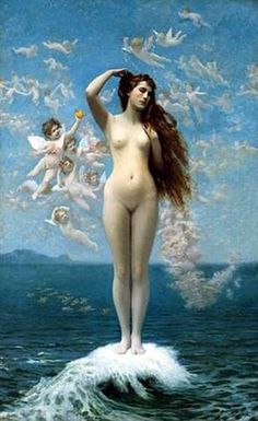 The Birth of Venus - Jean-Leon Gerome - Completion Date: 1890