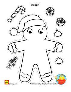 Decorate a gingerbread man #printable | alexbrands.com