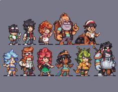 Piskel Art, Pix Art, Character Design Teen, Character Art, Pixel Circle, How To Pixel Art, Arte 8 Bits, Anime Pixel Art, Pixel Animation