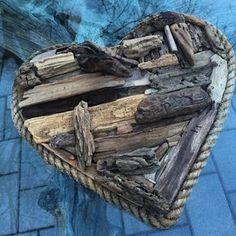 Valentine's Day is right around the corner - #driftwood #driftwoodart #upcycle #upcycled #reclaimed #heart #valentinesgifts #valentines #rope #beachcomber #beachcombed #moontidetreasures #seaglasshunting #coastaldecor #interiordesign #interiordecorating #jerseyshore #beachlife #coastalliving #shorelife #madeinamerica #homemade #forsale #instapic #whatdidyoumakewednesday