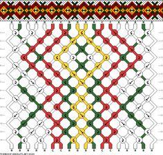 18 strings 14 rows 4 colors