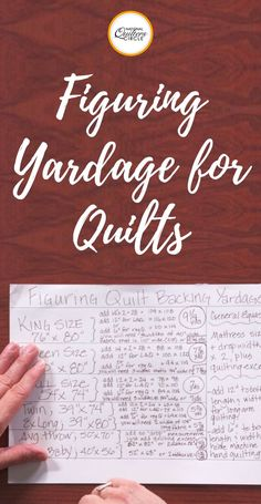 Knowing how to figure out how much backing fabric is required for a quilt is a great skill to have. Not only will it ensure that you always buy enough fabric for your project, but learning how to figure it out before having to just measure the pieced quilt top can allow you to purchase all of your fabric at the same time. Heather Thomas shows you how to calculate how much yardage of fabric is needed for different sizes of quilts.