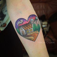 Cute traditional tattoo.