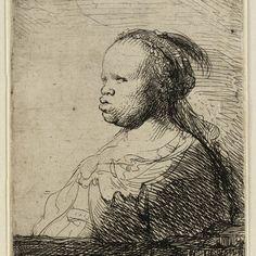 Rembrandt, De witte Negerin ( B 357 ), 1630. Teylers Museum
