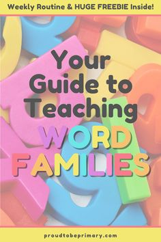 How to Teach Phonics Word Families (A Simple Weekly Routine) – Proud to be Primary