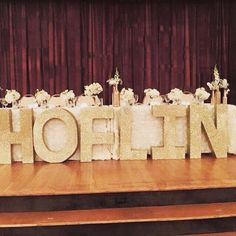 Glitter Free Standing Letters Large Styrofoam Wedding Decor