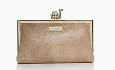 NEW WITH TAGS Kate Spade Queen of the Nile Pave Camel Clutch