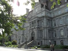 City Hall (Hotel de Ville) in old Montreal - one of the many historic buildings