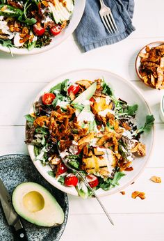 Vegan BLT salad with