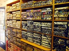 Inside Duttons for Buttons.  It's okay, you're allowed to drool. This reminds me of Stonemountain & Daughter in Berkeley. Per previous pinner.