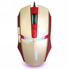 Qisan® 1600 DPI Adjustable,6 Button,Wired LED Gaming Mouse(Golden)