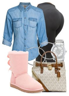 """""""Untitled #254"""" by alyssa-perry ❤ liked on Polyvore featuring ONLY, Juicy Couture, MICHAEL Michael Kors and UGG Australia"""