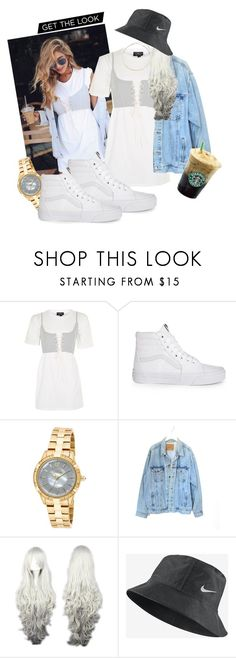 """""""From the gram"""" by venomouspussay ❤ liked on Polyvore featuring Topshop, Vans, Invicta, Levi's, NIKE and Whistles"""