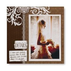 Diving #Wedding 8x8 Scrapbook Layout Page Idea  from Creative Memories #scrapbooking    http://www.creativememories.com