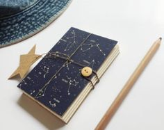 Constellation notebook, Star notebook, Indigo Sketchbook, Space notebook, A5 A6 notebook