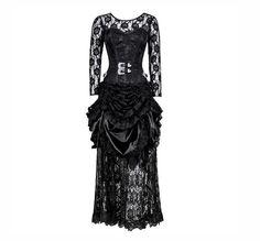 £130.00 US $168.70 Black Gothic Dress   Corset Dresses   Gothic Dresses