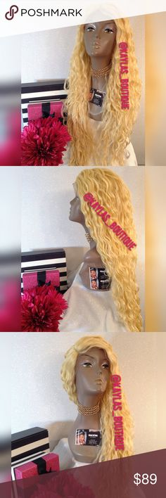 TROPICAL WAVE LACE FRONT WIG HUMAN HAIR BLEND APPROXIMATELY 26-28 INCHES LONG TAKES HEAT UP TO °400 YELLOW TONE BLONDE  HAS A RIGHT SIDE PART  🎁I DO NOT TRADE AT ALL #NEVER 🎁NOT ACCEPTING OFFERS 🎁NO HOLDS 🎁PRICE IS FIRM 👑ACTUAL PHOTOS OF MY PRODUCT & MY WORK NO SCREENSHOTS NO STOCK PHOTOS  📣I DO NOT TRADE📣  💌SHIPPING POLICY :SAME DAY SHIPPING IF PURCHASED BEFORE 12PM MONDAY | SATURDAY . DELIVERY TIME :2-3 BUSINESS DAYS Accessories Hair Accessories
