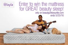 Giveaway: Dilara is Getting Better Beauty Sleep on Her New Layla Mattress — YOU CAN WIN ONE!