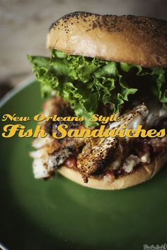 New Orleans Style Fish Sandwiches