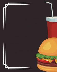 Food Graphic Design, Food Menu Design, Food Poster Design, Burger Vector, Food Truck Festival, Big Burgers, Food Wallpaper, Food Backgrounds, Logo Restaurant
