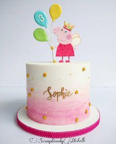 New Birthday Kids Girls Peppa Pig 30 Ideas - birthday Cake Ideen Toddler Birthday Cakes, Peppa Pig Birthday Cake, Birthday Cake Girls, First Birthday Cakes, 3rd Birthday Parties, Birthday Kids, Third Birthday, Birthday Cupcakes, Happy Birthday