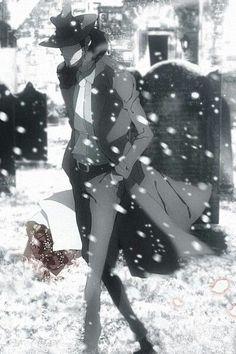 Daisuke Jigen in snow Old Anime, Manga Anime, Anime Art, Anime Boys, Cowboy Bepop, Gatchaman Crowds, Revolutionary Girl Utena, Lupin The Third, Nichijou