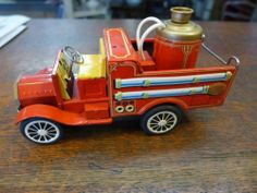 Made in Japan Friction Fire Truck Missing Bell on Top | eBay