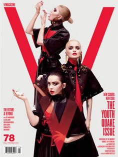 V Magazine The Youthquake Issue Sky Ferreira, Grimes and Charli XCX by Sebastian Faena with styling by Carine Roitfeld.