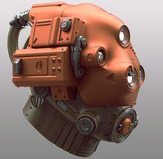 Scifi helmet by Tor Frick | Sci-Fi | 3D | CGSociety