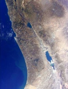 Israel from the ISS