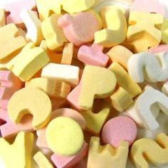 Alphabet chalky sweets, my sister lived these! 1970s Childhood, Childhood Toys, Childhood Memories, 80s Sweets, Party Sweets, Old Fashioned Sweets, British Sweets, Vintage Sweets, Nostalgia