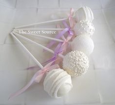 Cake Pops Wedding Cake Pops Made to Order with by TheSweetSource, $22.00 eats-drinks