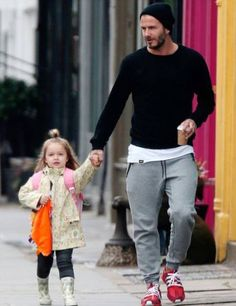 David Beckham Lets His Four Year Old Daughter Design His New Tattoo (4 Pics)