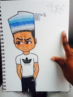 I drew my own Boondocks character...☺️ Deønte
