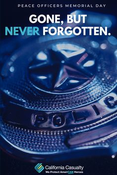 """""""Heroes never die. They live on forever in the hearts and minds of those who would follow in their footsteps."""" -Emily Potter  Happy Peace Officers Memorial Day 💙 🖤  #PoliceWeek #CalCas"""