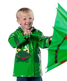 Love this Green Frog Raincoat - Infant, Toddler & Boys by Kidorable on #zulily! #zulilyfinds