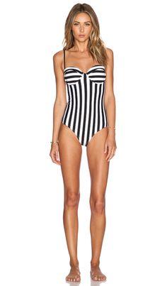 Wildfox Couture Dreamhouse Stripe Swimsuit in Multi | REVOLVE