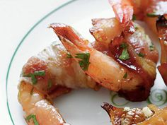 Bacon-Wrapped Shrimp | A tasty appetizer of Bacon-Wrapped Shrimp will be hit with your party crowd. They'll savor the hint of heat mingled with sweetness in each bite.
