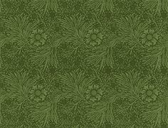 "Bradbury & Bradbury Forest Green Marigold Wall Fill. Sold by the single roll. Each roll contains 30 sq. ft. Roll dimensions: 27"" wide x 15' long. Repeat size: 9"". Price: $59/roll. Handprinted."