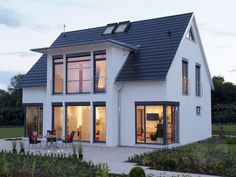 Back of house larger addition MH Hannover by LUXHAUS | Classic | saddle roof #classic #hannover #luxhaus #saddle