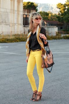 Mellow Yellow | Colored jeans are my least favorite and guilty fashion obsession